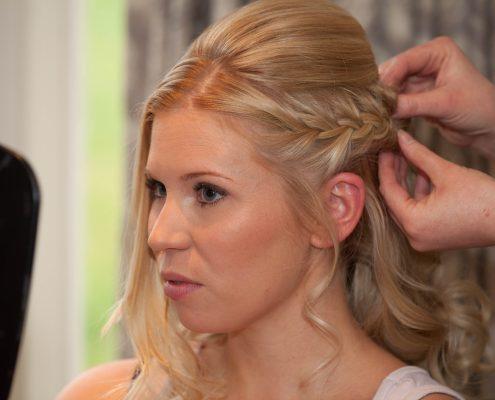 Bridal hair plaits York