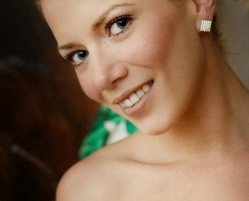 Stunning close-up of bride