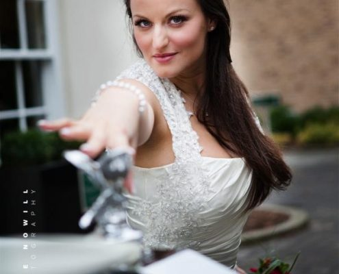 Bride with a Rolls Royce