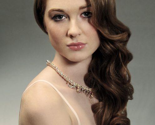 Bridal hair and make-up studio shot